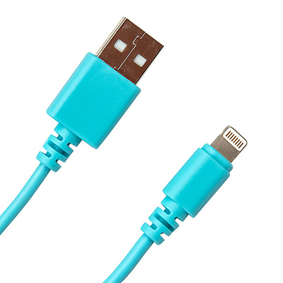 Кабель USB Type-A M - Apple Lightning M голубой 1м CI-0310 Blue main photo