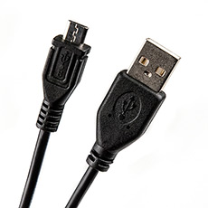 USB 2.0 cable 1m Dialog CU-0310-P Black