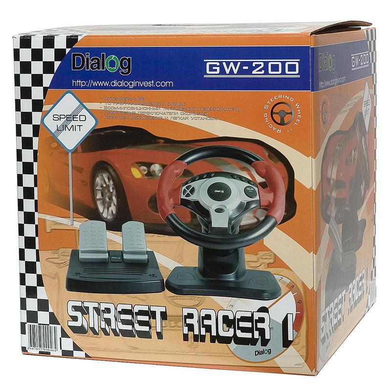 скачать драйвера для руля dialog gw 200 street racer1