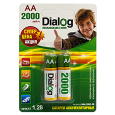 NiMH rechargeable AA batteries Dialog HR6/2000-2B