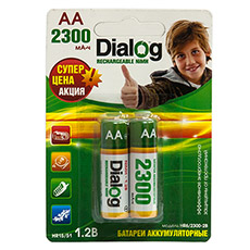 NiMH rechargeable AA batteries Dialog HR6/2300-2B