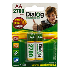 NiMH rechargeable AA batteries Dialog HR6/2700-2B