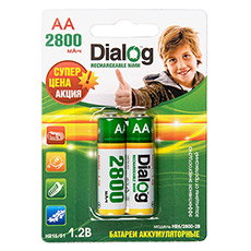 NiMH rechargeable AA batteries Dialog HR6/2800-2B