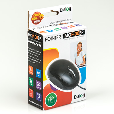 Мышь Dialog Pointer MOP-00BP Black PS/2